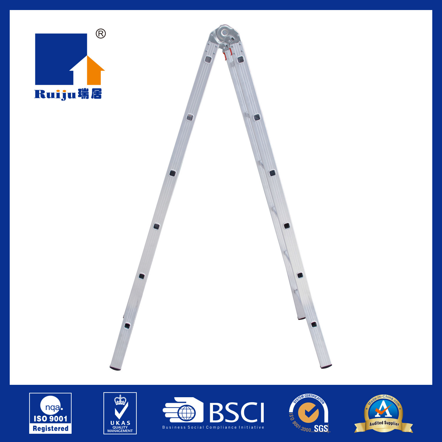 Two-Joint Aluminium Alloy Ladder