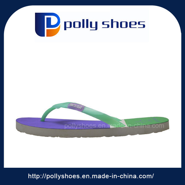 New Design Cheap Bicolor Sole Lady Flip Flops