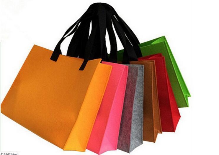 Hot Stamping Felt Christmas Gift Bags