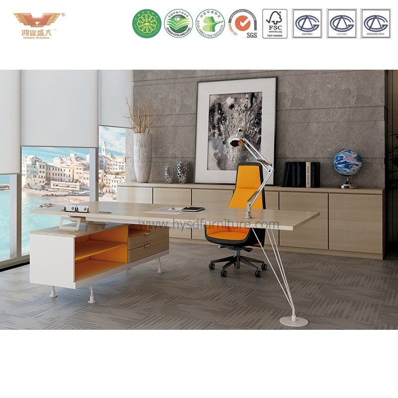 New Style Modern Office Executive Desk Office Desk with L Shape Return (CLEVER-MD22)