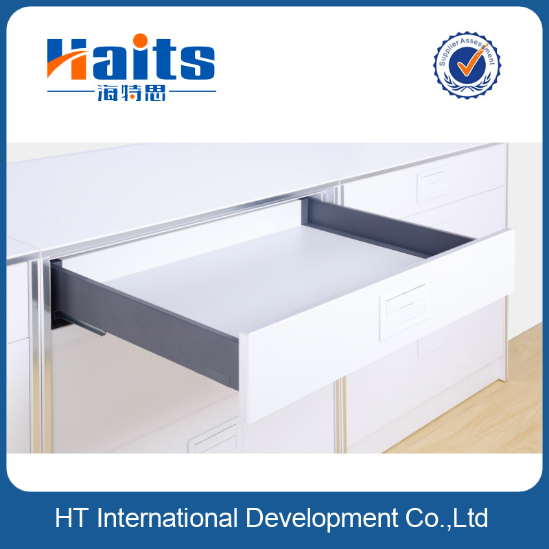 116 mm Height Luxury Metal Box System with Silent and Soft Close Concealed Slides