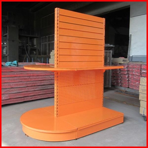 New Design Supermarket Half Round Metal Display Gondola Shelf
