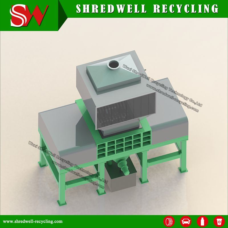 Four Shaft Plastic Shredder for Recycling Plastic Bottle