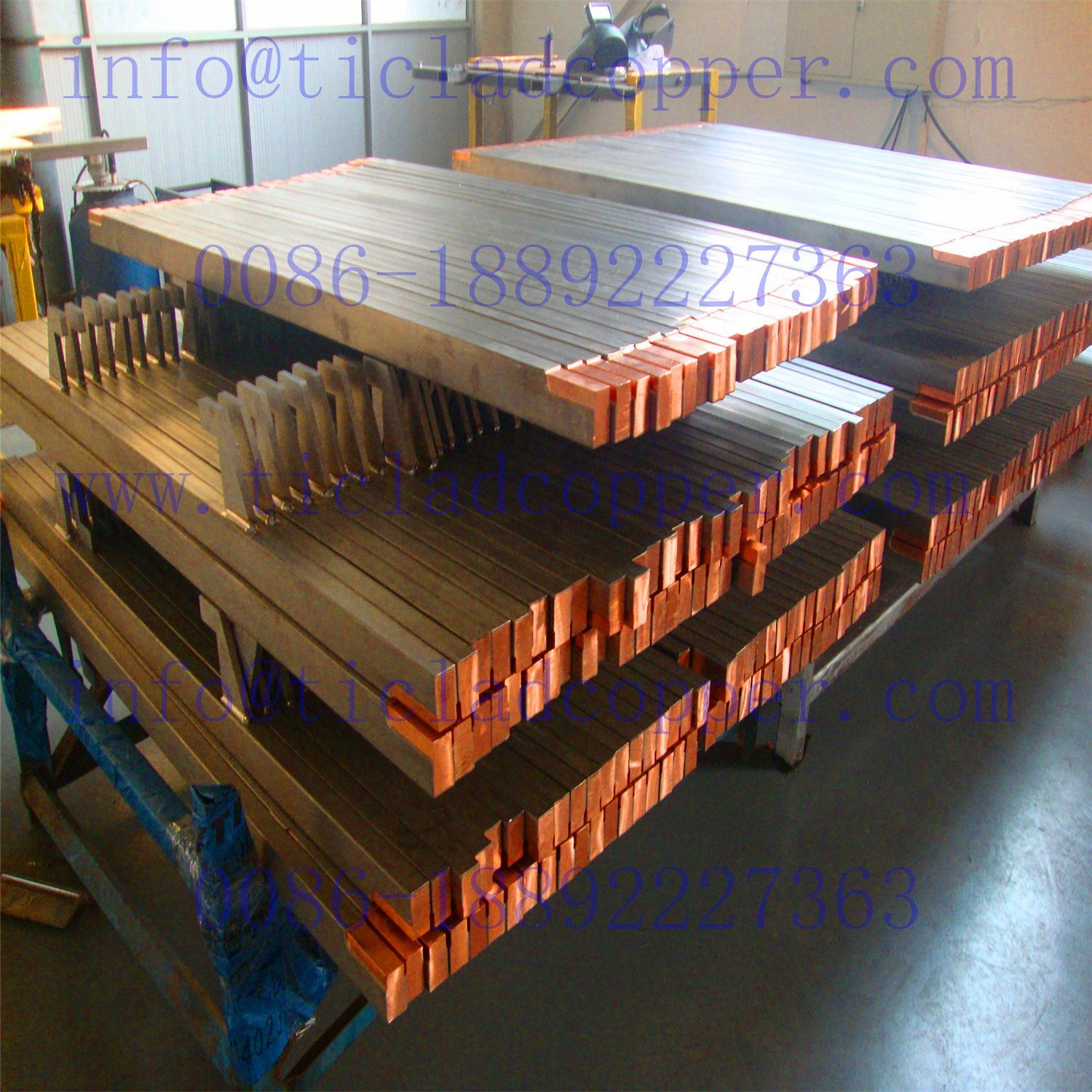 Titanium Clad Copper Bus Bar Anode for Eletrolysis