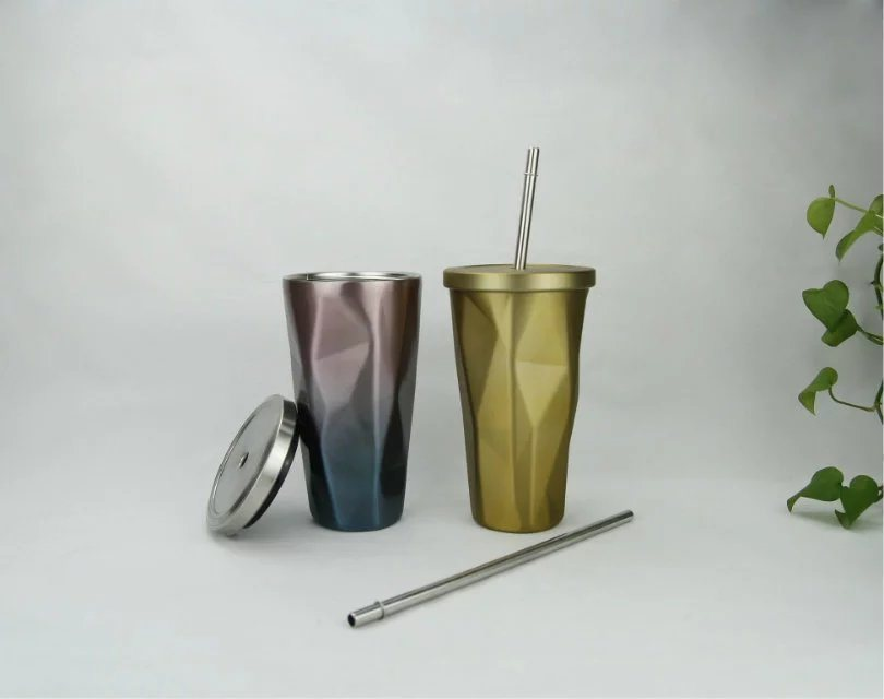 Hot High Quality Straight Stainless Steel Straw Mug
