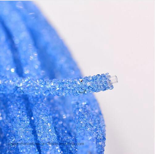 2017 New Strass Rhinestone Chain Tube Crystal Beads Trim Bridal Applique Trim Banding (TT-001)