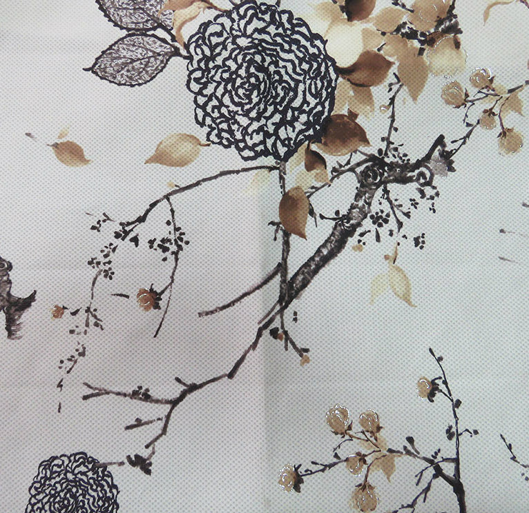 Gold Printing Upholstery Fabric (JH1888)