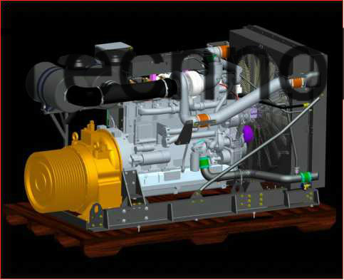 Diesel Engine + Gear Box and Pump Driver Power Assembly Package for Pump/Non Road Mobile Equipment/Construction Machinery