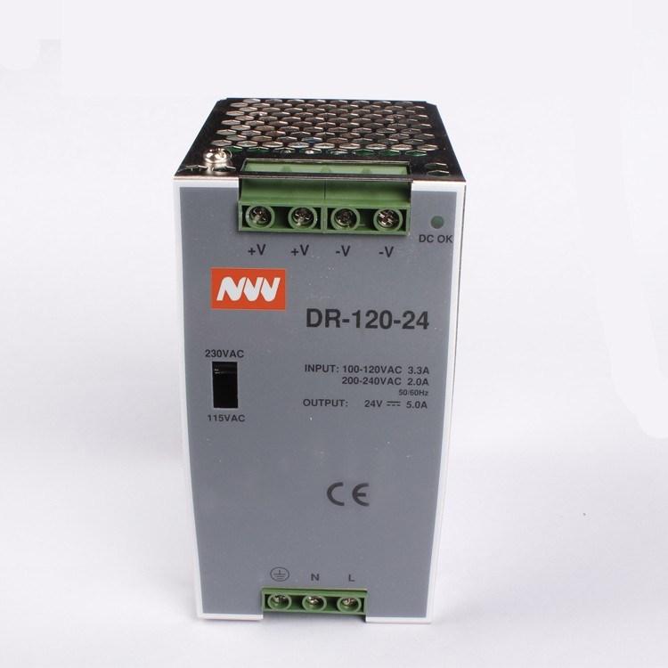 Dr-120-24 120W 24 Volt Electronic Transformer DIN Rail Power Supply