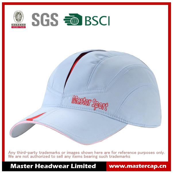 Customer Logo Blue Polyester Sports Cap for Girl