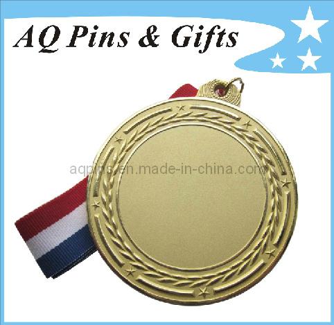 3D Gold Medal with Sandblasting