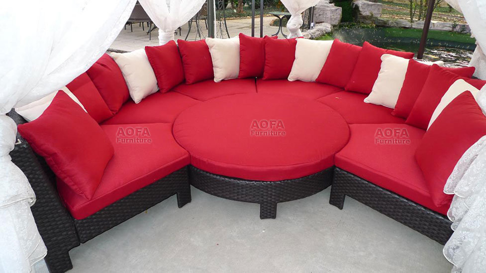 China Resin Wicker Modular Furniture Set P