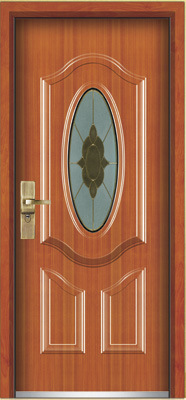 Steel Wooden Armored Door (YF-G9017)