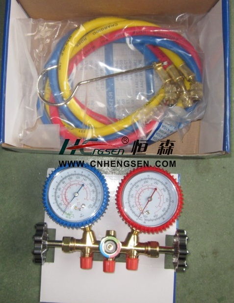 Professional OEM Manufacturer of CT-536 G F Brass Manifold Gauge Set Double Gauge Manifold Set Air Conditioner Parts Refrigeration Parts Refrigeration Tools