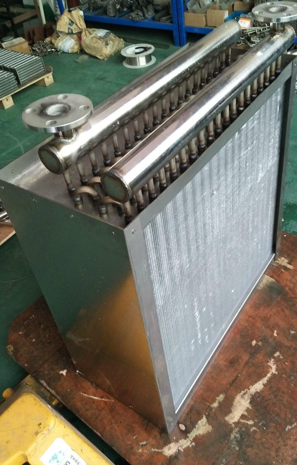 Fin Tube Heat Exchanger with Fan