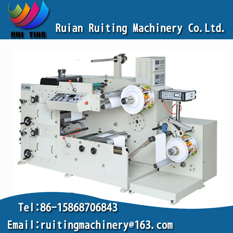 Rtry-320b Adhesive Label 2 Color Flexographic Paper Printer for Sale
