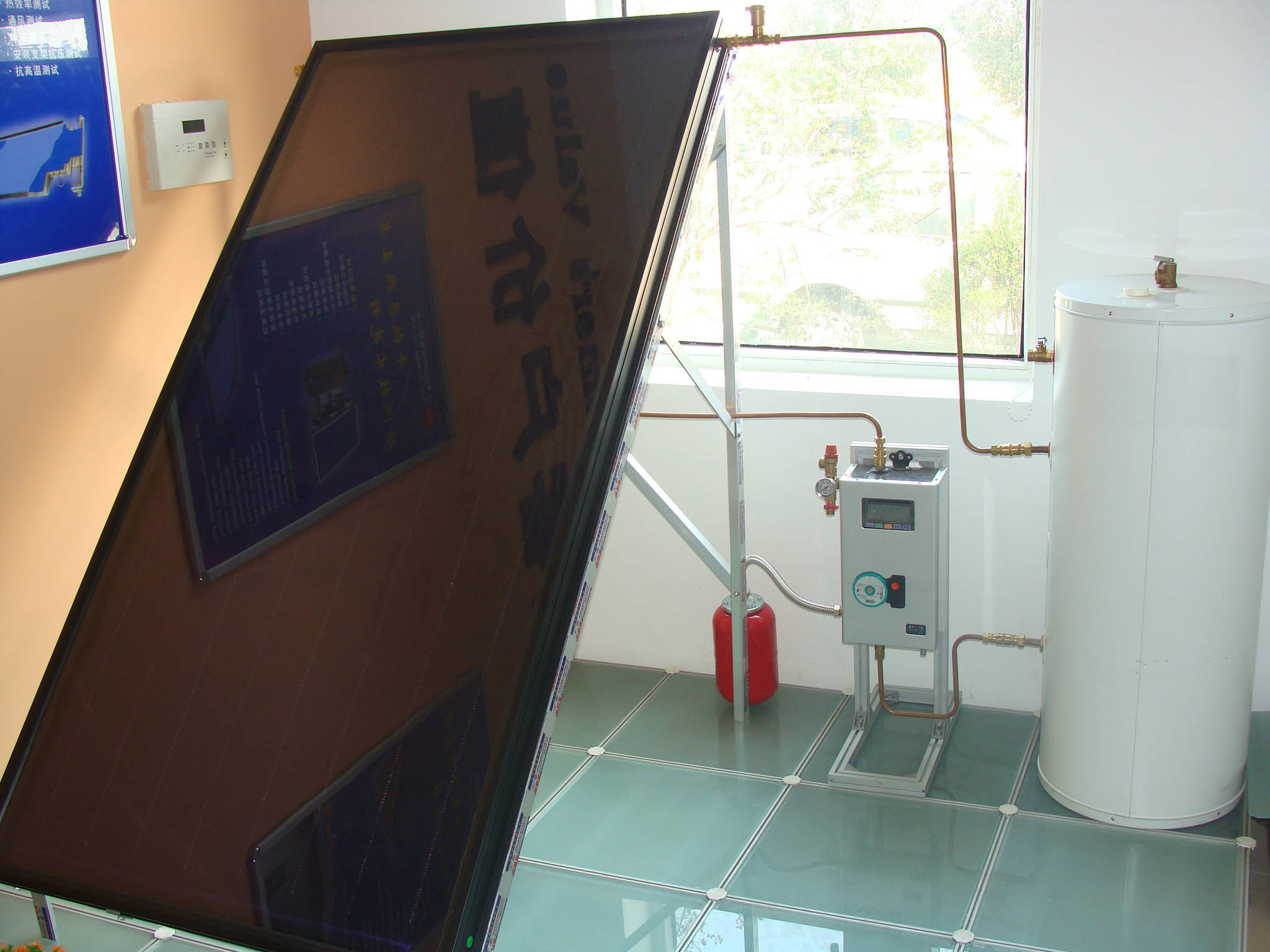 Solar Flat Panel for Water Heater (1X1.5M, 1X2M)