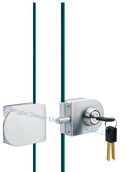 Dimon Sliding Glass Door Lock Single Door Double Cylinder Central Lock with Knob (DM-DS 65-4B)