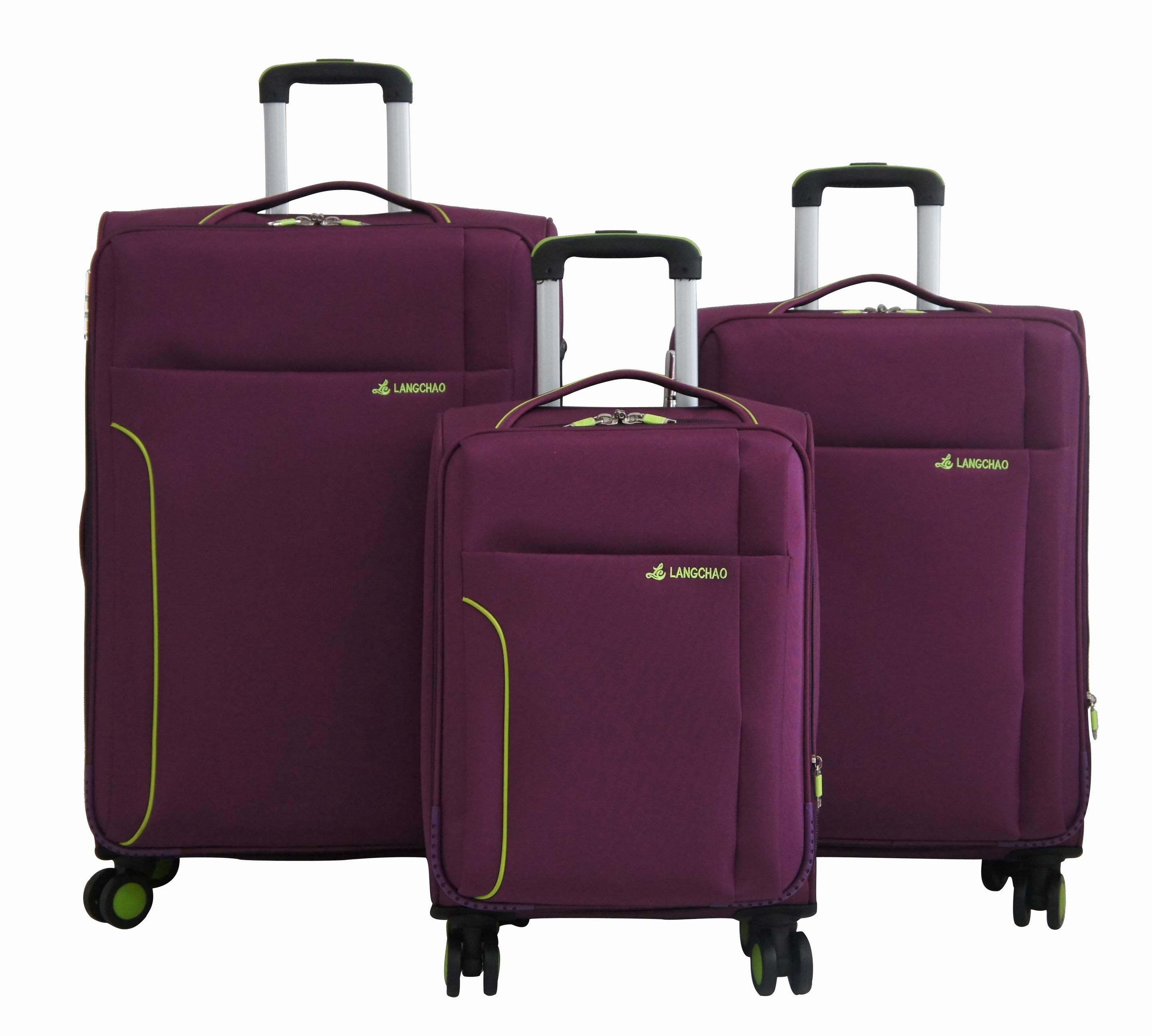Fabric Soft Trolley Bag Luggage Set Suitcase 1jb012