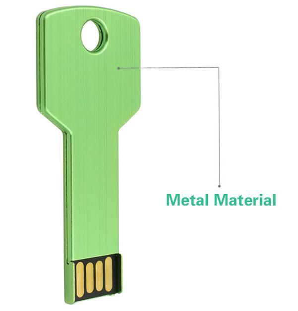 Hot USB Flash Drive Metal USB Key Drive Memory Stick Flash Pen Drive USB2.0 Memory U Disk