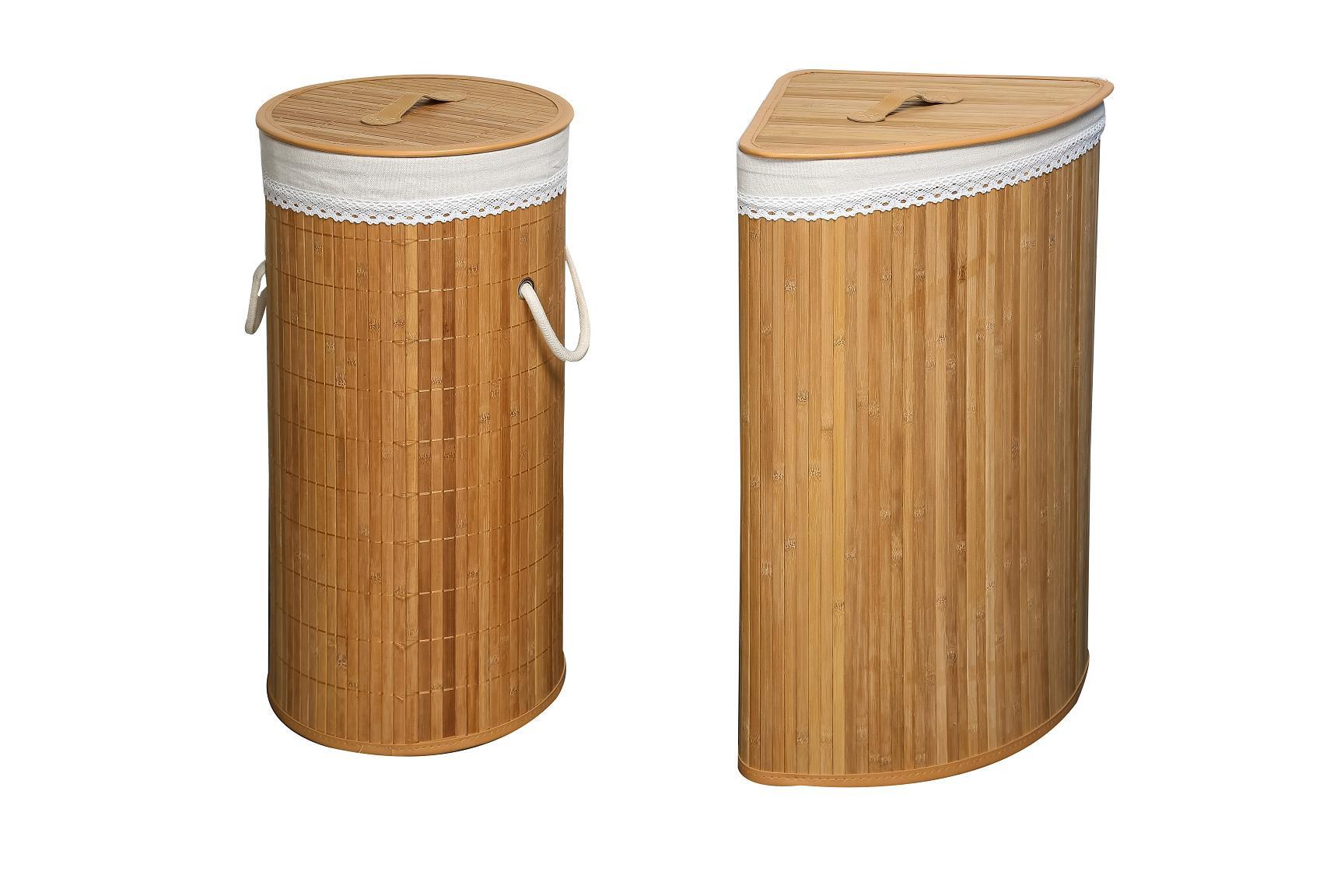 Bamboo Storage Bins Laundry Basket