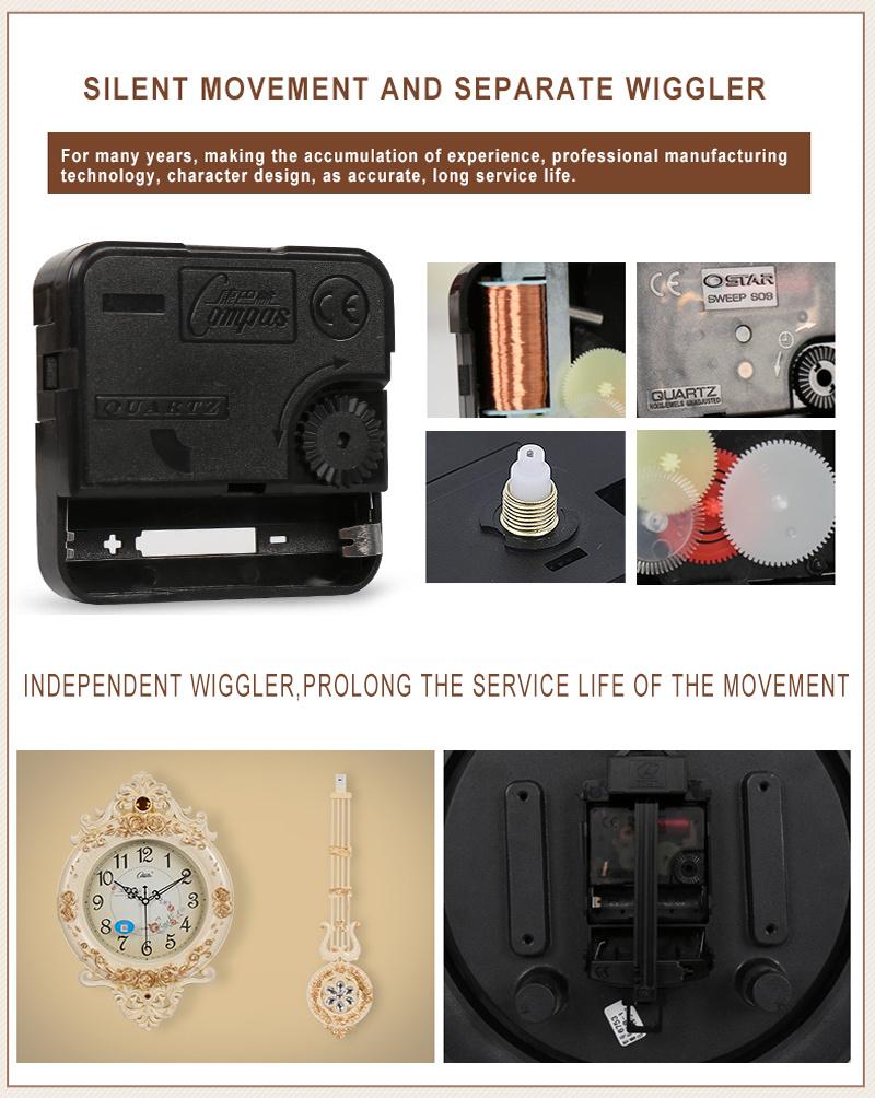 European Creative Wall Clocks Hot Sale Luxury Diamond Clock Wall Clock for Home Wall Decor (AS005)