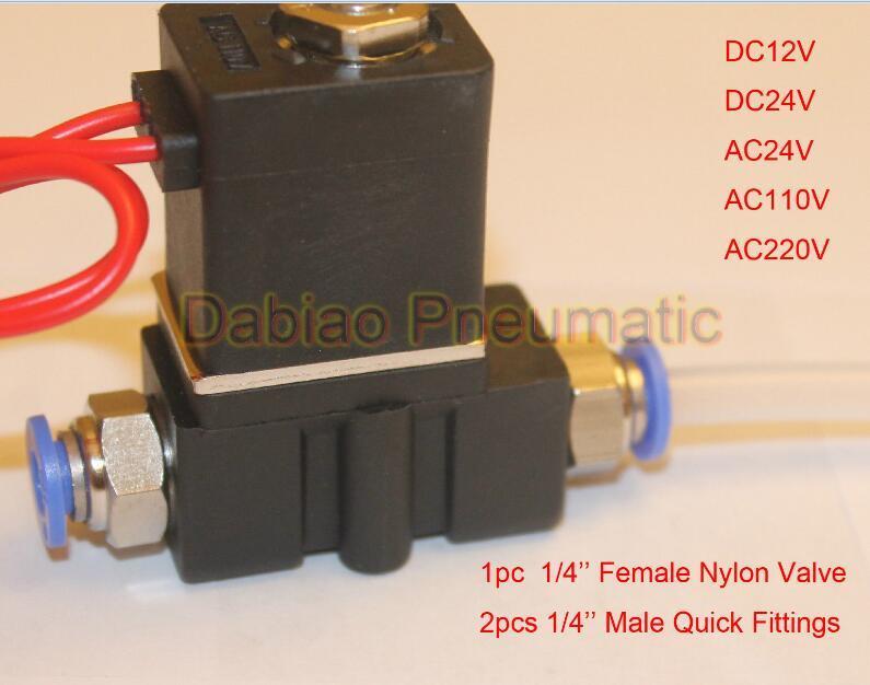 """2p025-08 Plastic Solenoid Valve 1/4"""" 0~0.8MPa -5~80′c DC12V Drinking Machine Valve Miniature Valve"""