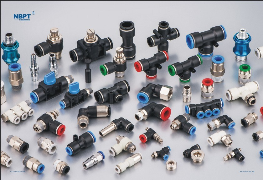 Pht Series Pneumatic Joint Four Angle Pipe Fittings