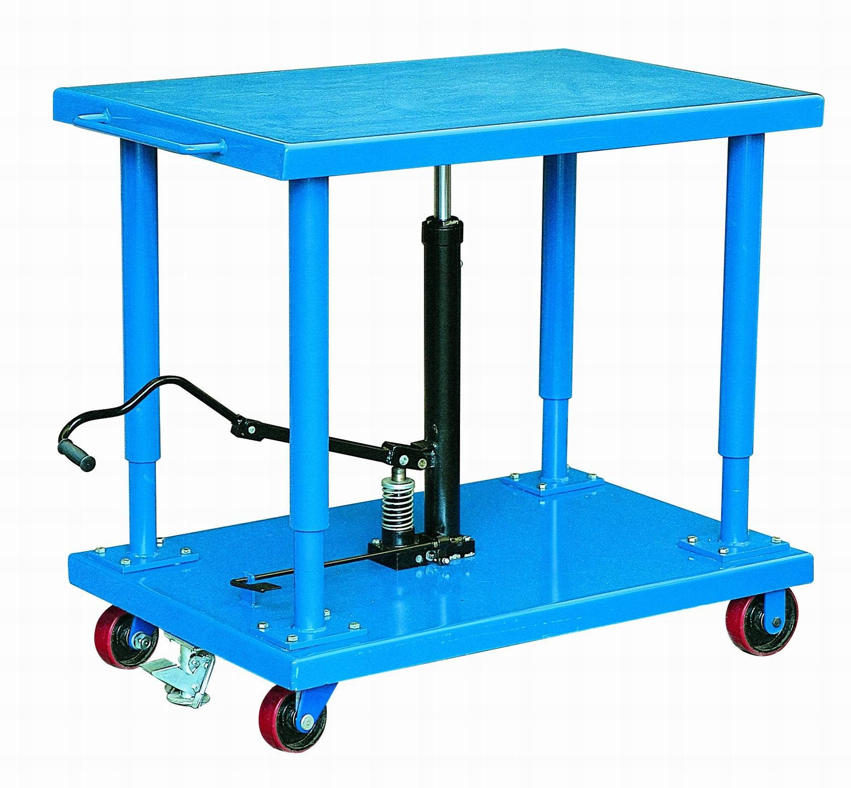 China Mobile Hydraulic Lifting Table Trolley Photos