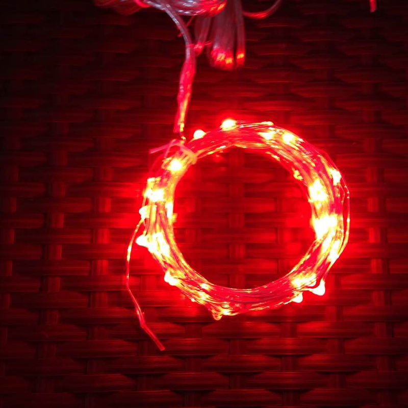 LED Mini Copper Wire Fairy String Lights with Plug or Battery