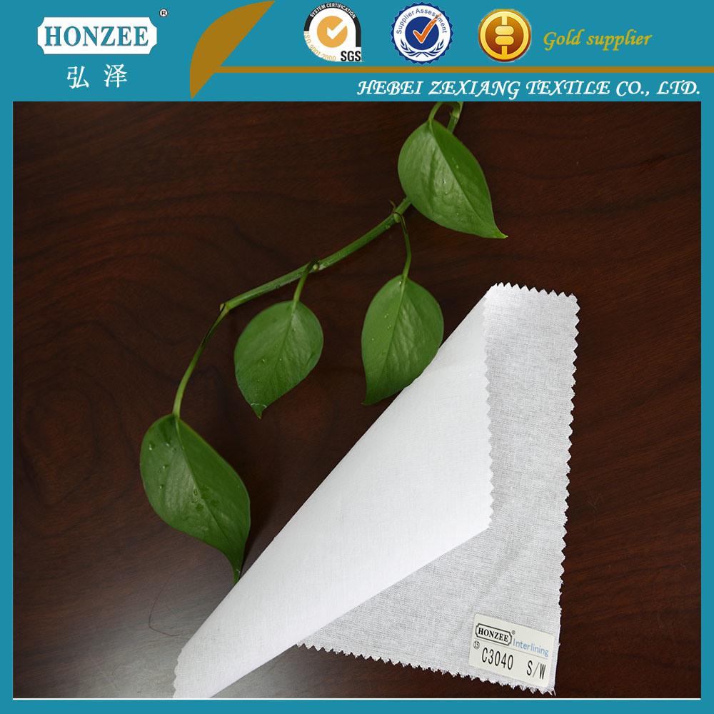 High Quality Shirt Collar 100% Cotton Interlining