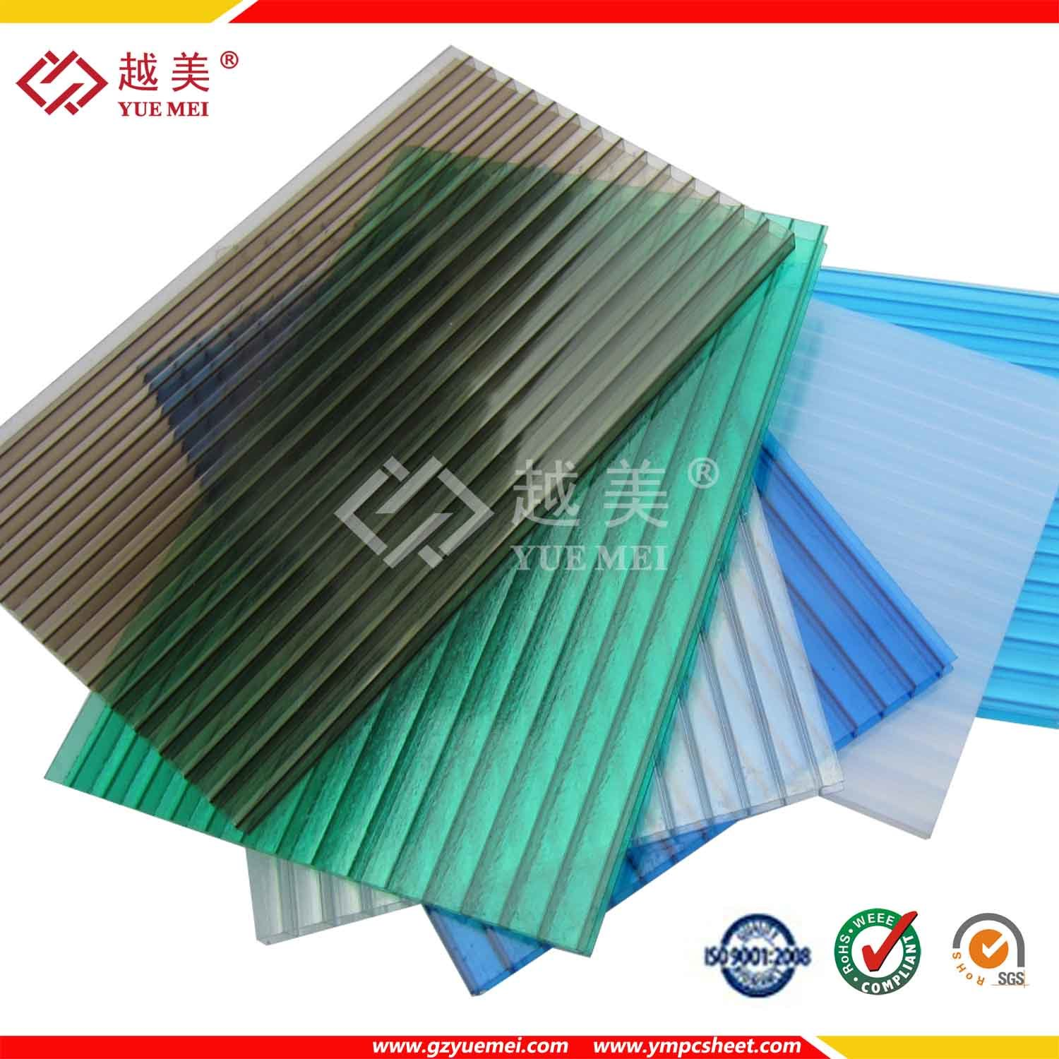 China hollow polycarbonate sheet plastic building pc for Roofing product