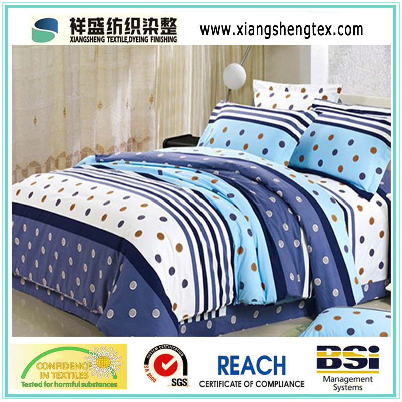 100% Polyester Microfiber Printed Bedding Sets Fabric