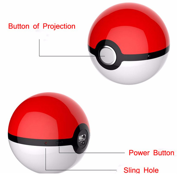 2017 New Pokemon Go Ball Chager Power Bank