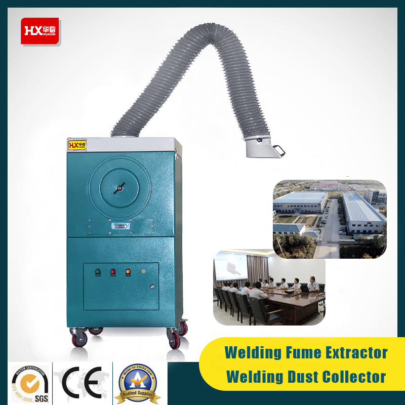 Hx Industrial Fume Collector with Double Arm for Welding