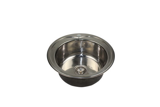 China stainless steel round shaped under mount kitchen - Round stainless steel kitchen sink ...