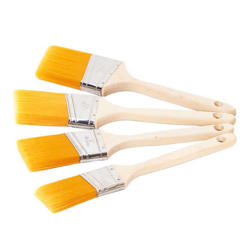 Angular Sash Brush with Wood Handle B018