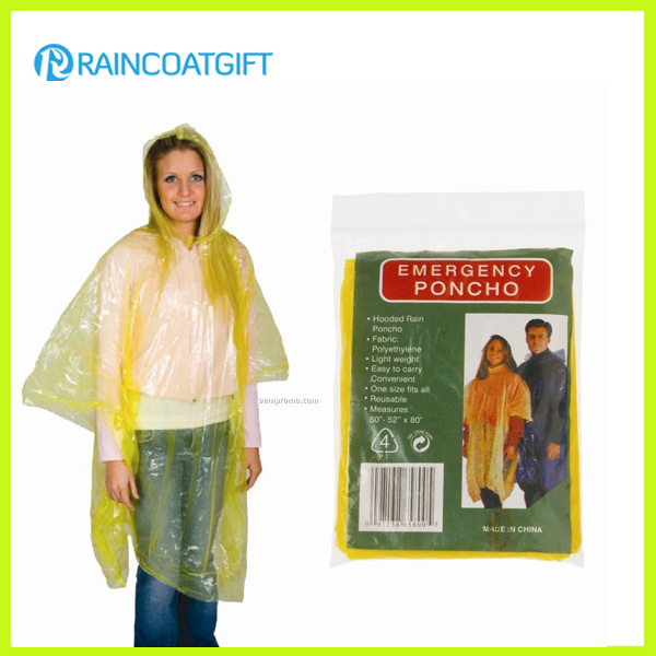 Cheap PE Emergency Raincoat Rpe-029A
