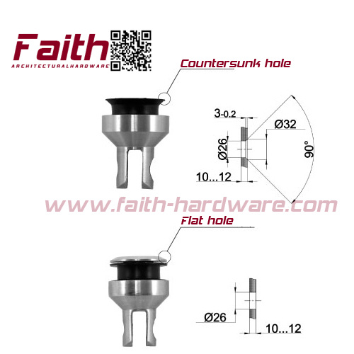 Stainless Steel Frameless Glass Connector (OGC. 102. SS)