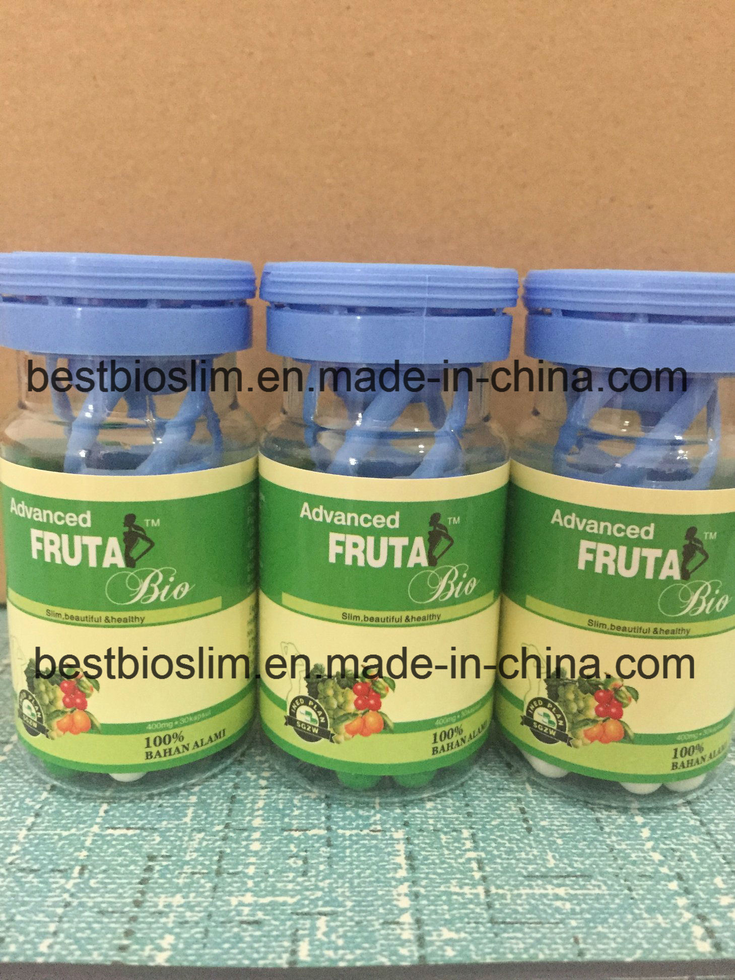 Advanced Fruta Bio Slimming Pills Green White Weight Loss Capsules