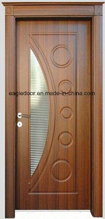 Economical Interior Wooden Rounded MDF PVC Door (EI-P083)