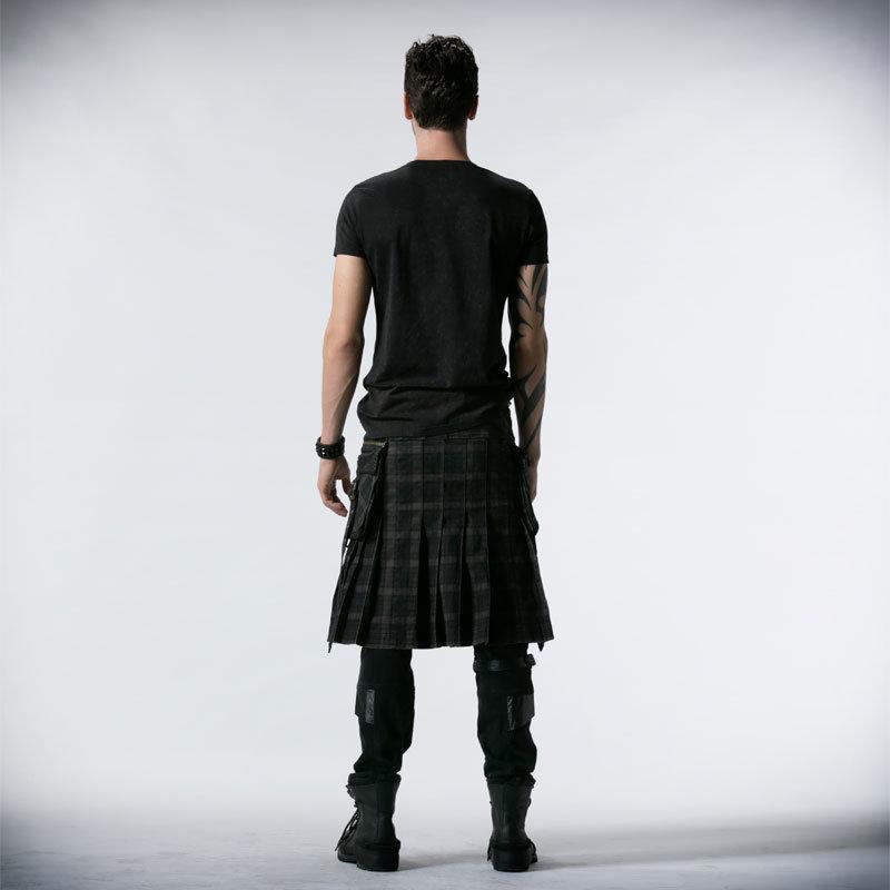 Punk Rave Wholesale Gothic Black Men Skirts (Q-225)