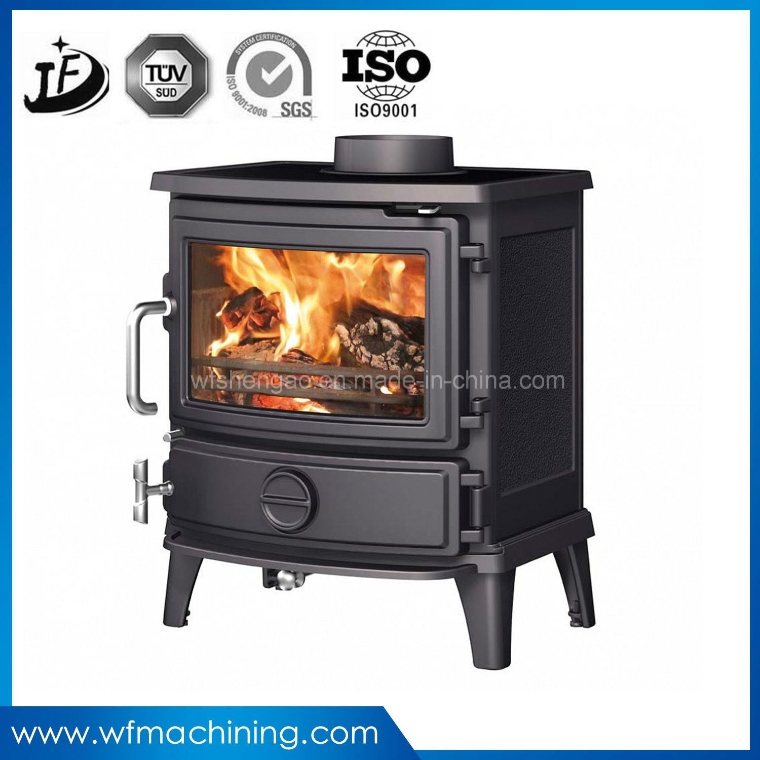 OEM New Morden Metal/Iron/Wood Burning Fireplace Stove of Electric Fireplace