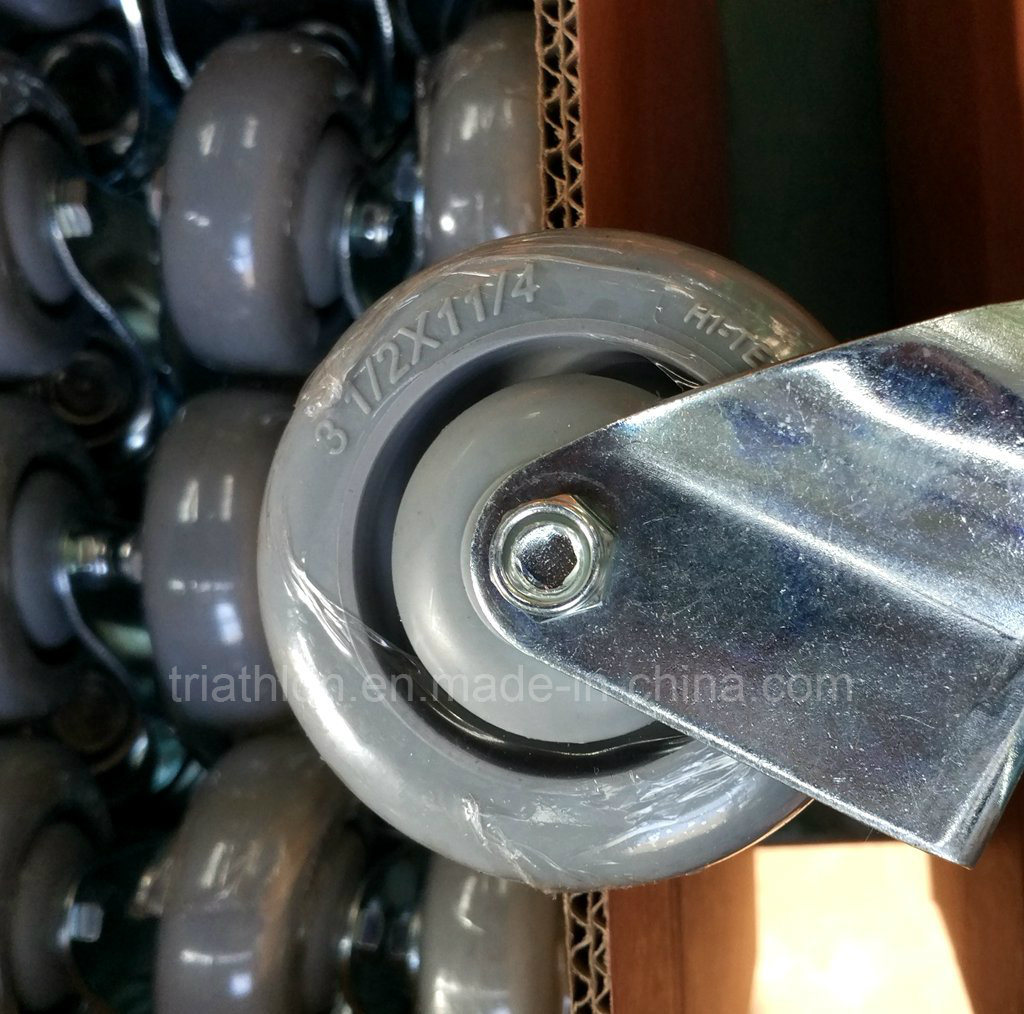 3.5 Inch Swivel Rotating TPR Casters