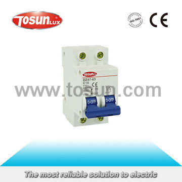 Dz47-63 Mini Circuit Breaker of High Fire-Resistant and Shockproof Plastic
