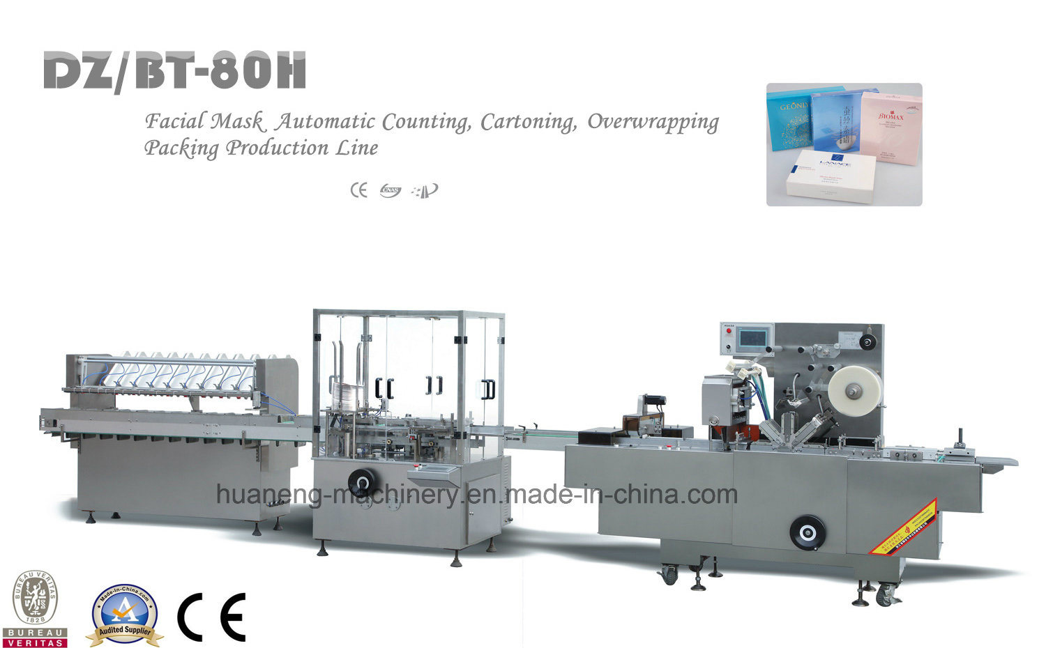 Automatic Facial Mask Packing Production Line Dz/Bt-80h