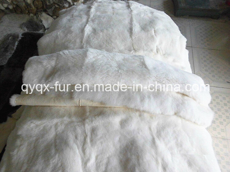 Factory Wholesale High Quality Natural White Rabbit Fur Plate