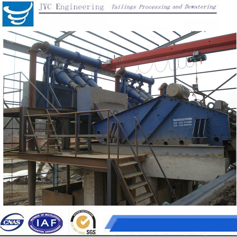 Mining Equipment Thickening Hydrocyclone+Dewatering Screen Make Tailings Dry