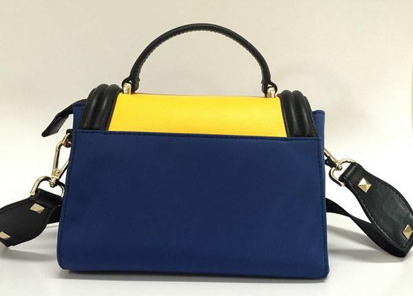 China Wholesale Satchel Leather Handbag Mini Nylon Leather Handbag (BS16001)