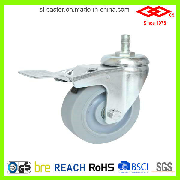 125mm Rotating Rubber Wheel Caster (P120-34FK100X32)